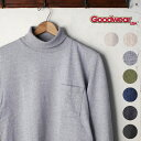 ★40%OFF♪SALE特価!MADE IN USA【GOOD WEAR】グッドウェアL/S turtle neck Pocket T-shirts長袖 タートルネックポケットTシャツ全7色 z10x[ゆうパケット対応]