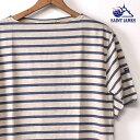 【SAINT JAMES】セントジェームスPIRIAC(ピリアック)半袖TシャツNATUREL/JEAN(霜降りベージュ/ブルー)[ゆうパケット対応]z10x