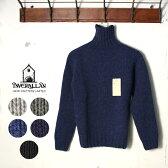 2016年モデル正規品 Made in Scotland【INVERALLAN】インバーアランRoll Neck Flat Stitch 2.5G Heavy Weight Sheatlandロールネックフラットステッチシェットランドセーター タートルネックニット全5色