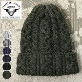 【HIGHLAND 2000】ハイランド2000BOB CAP CABLE KNIT CAPボブキャップ ケーブル ウール ニットキャップ全7色 [ゆうパケット対応]
