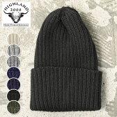 【HIGHLAND 2000】ハイランド2000BOB CAP KNIT CAPボブキャップ リブ編みタイプ ウール ニットキャップ ワッチキャップニット帽全7色 [ゆうパケット対応]