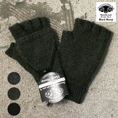 Made in England HAND KNIT【Black Sheep】ブラックシープWOOL FINGERLESS GLOVE(BG08B)ウールフィンガーレスグローブ 手袋 全3色[ゆうパケット対応]