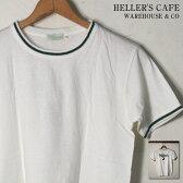 ★更に5%OFF!(クーポン使用時)★20%OFF♪クリアランスSALE!【HELLER'S CAFE by WARE HOUSE】ヘラーズカフェ by ウエアハウスHELLER'S 3 TEEHELLER'S 3 TシャツWHITE ホワイト[ゆうパケット対応] mc0p1