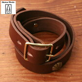 "★50%OFF♪クリアランスSALE☆ MOREMade in USA【BUTTON WORKS AMERICA】ボタンワークスアメリカ1"" 7 CONCHO LEATHER BELT 1インチ 7コンチョレザーベルトBROWN ブラウン"