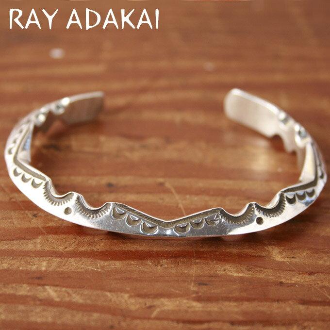 ナバホ族【RAY ADAKAI】レイアダカイZigzag BraceletジグザグブレスレットサイズM z5x