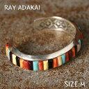 ナバホ族【RAY ADAKAI】レイアダカイInlay BraceletインレイブレスレットサイズM z5x
