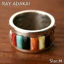 ナバホ族【RAY ADAKAI】レイアダカイInlay Ring インレイリングサイズM(19号)z5x