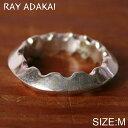 ナバホ族【RAY ADAKAI】レイアダカイTriangle Ring Zig Zag トライアングルリング ジグザグSize M(19号)z5x
