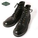 Made in USA【NICKS BOOTS】ニックスブーツHNW Last 6inch OXFORD 6インチ オックスフォードCaiman Leather Black カイマンレザー ブラック
