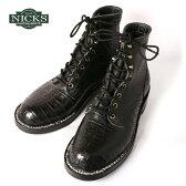 2点以上で10%OFF!(クーポン使用時・1万円以上)Made in USA【NICKS BOOTS】ニックスブーツHNW Last 6inch OXFORD 6インチ オックスフォードCaiman Leather Black カイマンレザー ブラック