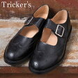 ★40%OFF♪SALE特価!正規品 Made in England【Tricker's】トリッカーズM7596 メリージェーンBLACK(ブラック)
