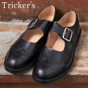 ★40%OFF♪SALE特価!正規品 Made in England【Tricker's】トリッカーズM7596 メリージェーンBLACK(ブラック)