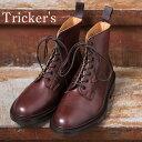 正規品 Made in England【Tricker's】トリッカーズM6895 Grassmere グラスミアイミテーションキャップトゥブーツBURGUNDY(バーガンディ)