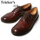 ★40%OFF♪SALE特価!正規品 Made in England【Tricker's】トリッカーズM7195 Cap Toe Country Shoes キャップトゥカントリーシューズバーガンディ