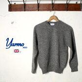 Made in England【YARMO】ヤーモCREW NECK KNITクルーネックニットBRITISH WOOL ウールGREY グレー