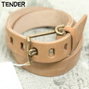 【TENDER】テンダーHAND CUT WIRE BUCKLE BELT ベルトTAN タン