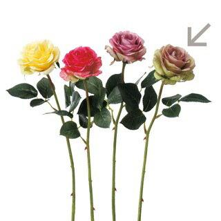 A−31828 ローズ #055G モーブグリーン【シルクフラワー】【アートフラワー】【造花】【花資材】【花材】【アスカ商会】