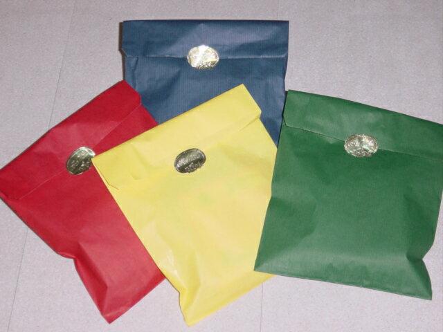 おしゃれラッピング紙袋(大)シール付き