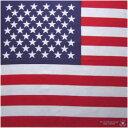 ★☆アメリカ オバマ大統領!最高の演説に世界が祝う!★インテリに、発表会に、グループに、イベントに、ペットに★☆U.S.A☆★アメリカ国旗バンダナ「粗品・記念品・販促品・景品・ノべルティ」【コットン(綿)100%・日本製】