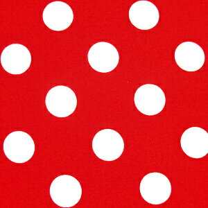水玉 ドット ブロード 生地 ブロード生地 色 : 赤 水玉の大きさ : 大(直径約22m…...:cottonheart:10004050