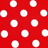 ★ 1.5m以内はメール便選択可 ★ 水玉柄のブロード生地 <色:赤>水玉の大きさ:大(直径約22mm)1774・3-17※価格は、10cmあたりの価格