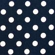 ★ 1.5m以内はメール便選択可 ★ ドット柄・水玉柄のブロード生地 <色:紺> 水玉の大きさ:小(直径約7mm) 1774・7-18 【ドット】【水玉】 ※価格は、10cmあたりの価格