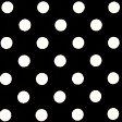 ★ 1.5m以内はメール便選択可 ★ ドット柄・水玉柄のブロード生地 <色:黒> 水玉の大きさ:小(直径約7mm) 1774・7-19 【ドット】【水玉】 ※価格は、10cmあたりの価格 (F)