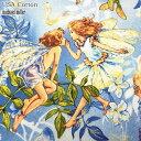 ★USA Cotton★花と妖精*Flower FAIRIES*SKY(単位50cm)