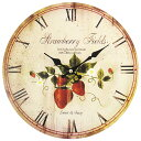 Art Wall-Clock strawberry clock [10P23may13] [RCP] [marathon201305_daily]