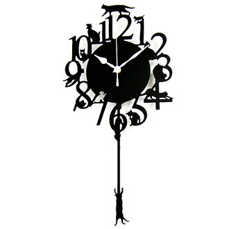 Tim Sale ★ pendulum clock cat (black) *
