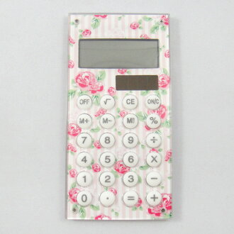 Calculator rose stripes