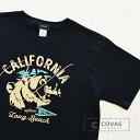 【Special】30%OFF COVAS GRAPHIC カリフォルニアベアー 301337-19 BLACK ブラック 黒 アメリカ 熊 アメカジ 半袖 Tシャツ 天竺 綿10..
