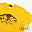 COVAS GRAPHIC アフリカンアニマル 301333-52 GOLD ゴールド イエロー アフリカ サバンナ 半袖 Tシャツ 天竺 綿100% オリジナル デザ..