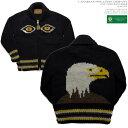 ショッピングカウチン カナディアンセーター|カウチンセーター(ジャケット)|Canadian Sweater Company(カナディアン セーター カンパニー)・カナダ製|CSC-7060 EAGLE(イーグル)白頭鷲|チャコール|メンズ|ウール100%|YARN 6 PLY(6プライヤーン)|フルオープン|ジップアップ|長袖