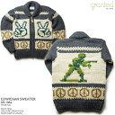 ショッピングメンズ カウチンセーター|granted(グランテッド)カナダ製|GR-106a Peace Sign(ピース・サイン)|メンズ|ウール100%(100% pure new wool)|フルオープン|YKK製ジップアップ|木製ラベルの引き手(wooden zipper pull)|カウチンニット|長袖 10P11Mar16