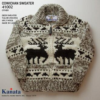 種毛衣毛衣 (種毛衣外套) | KANATA Inc.(Kanata),在加拿大取得 | a41002 鹿毛衣 (鹿毛衣) | 其他 | 男裝 | 100%(羊毛 100%) 羊毛 | 6 層羊毛 (六層) | 打開 | 2WAY 爪 [S] (鋼爪 zip) | 長袖