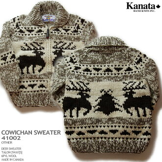 種毛衣毛衣 (種毛衣外套) | KANATA Inc.(Kanata),在加拿大取得 | KA41002 鹿毛衣 (鹿毛衣) | 其他 | 男裝 | 100%(羊毛 100%) 羊毛 | 6 層羊毛 (六層) | 打開 | 2WAY 爪 [S] (鋼爪 zip) | 長袖