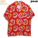 ショッピングカジュアル アロハシャツ|ショット(SCHOTT)SCH3175013|HAVANA(ハバナ)|レッド|メンズ|レーヨン100%|開襟|フルオープン|半袖|アロハタワー(アロハシャツ販売)