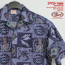 アロハシャツ|ゴーベアフット(GO BAREFOOT)|go-co1666 HAWAII KAI(ハワイ・カイ)|デニム|コットン100%(Cotton 100%)|開襟(オープンカラー)|フルオープン|半袖|アロハタワー(アロハシャツ販売)10P03Sep16
