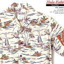 ショッピング販売 アロハシャツ|フラケイキ ハワイアン(HULA KEIKI HAWAIIAN)|マカナレイ(MAKANALEI)の姉妹ブランド|HK-19002 カジキ(SWORDFISH)|クリーム|メンズ|レーヨン100%(Rayon100%)|開襟(オープンカラー)|フルオープン|半袖|アロハタワー(アロハシャツ販売)