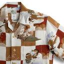 ショッピングアロハシャツ アロハシャツ・ララカイ(LALAKAI)|HL-030 龍宮城|レッド|メンズ|縮緬(ちりめん)シルク|薄手生地|半袖|アロハタワー(アロハシャツ販売) LALA KAI