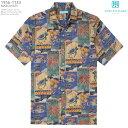 アロハシャツ|トリリチャード(TORI RICHARD)|tori-1133 MARQUISES(マルキーズ)|ブルー|メンズ|コットン・ローン100%(Cotton..