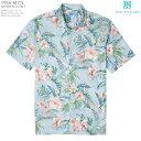 ショッピングアロハシャツ アロハシャツ|トリリチャード(TORI RICHARD)|tori-1956MI15 GARDEN SCENT(ガーデン セント)|ウォーター|メンズ|コットン・ローン100%(Cotton100%)|ノーマル襟|スリムフィット(細めのスタイル)|フルオープン|半袖|アロハタワー(アロハシャツ販売)