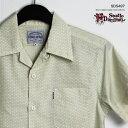 アロハシャツ|ステュディオ・ダ・ルチザン(STUDIO D'ARTISAN)|豚アロハ SD5497 ポルカドット開襟シャツ|ホワイト|綿100%(Cotton 100%)|開襟(オープンカラー)|フルオープン|半袖|アロハタワー(アロハシャツ販売) 10P11Mar16
