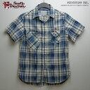 ショッピングアロハシャツ アロハシャツ|ステュディオ・ダ・ルチザン(STUDIO D'ARTISAN)|SD5529 チェック半袖シャツ|ブルー|コットン100%|ノーマル襟(レギュラーカラー)|フルオープン|半袖|アロハタワー(アロハシャツ販売)10P11Mar16