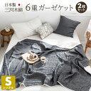 【お買い得2枚セット】日本製 ガーゼケット 6重 シングル 綿100% 三河木綿 夏 洗える