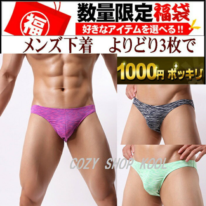よりどり3枚で1,000円【セクシーメンズ・男の下着】派手なブリーフ M/L/サイズ -7037