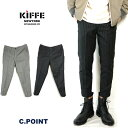 【Sale】 (キッフェ) KIFFE #Ankle Tapered Pants ≪ChalkStripe≫ Men's メンズ チョークストライプ柄 テーパー...