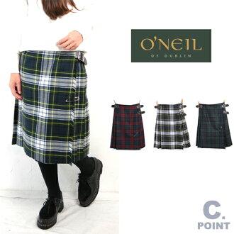 O ' NEIL of Dublin * O'Neil of Dublin * # 124 kilt skirt 60 cm Tartan 100% worsted wool leather belt comes with pin! made in Ireland