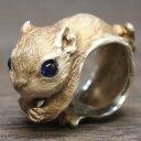 ショッピングフィギュア DECOvienya(デコヴィーニャ) 手作りアクセサリー モモンガリング シルバー [DE-099] ハンドメイドアクセサリー ジュエリー 動物 アニマル フィギュア 指輪 個性的 可愛い リアル レディース メンズ 日本製 国産